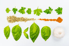 Lines of different food Royalty Free Stock Images