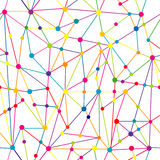 Lines and dots network Stock Photography