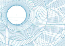 Lines draft backgroundA. Vector illustration of a technical draft background Stock Photos
