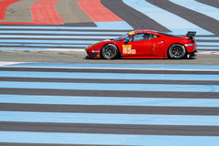 Lines and Ferrari F458 Italia on High Tech Test Track Royalty Free Stock Photography