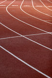 Lines field. A part of athletics field with the lines on it Royalty Free Stock Photography