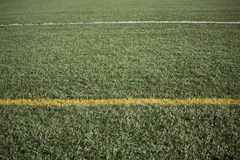 Lines on football field Stock Image