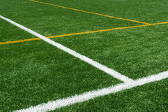 Lines on football turf Stock Images