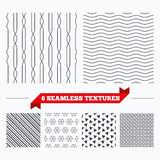 Lines geometric seamless pattern. Royalty Free Stock Images