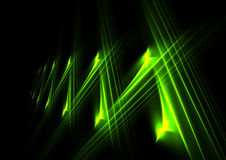 Lines of green Stock Image