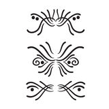 Lines hand drawn design element vector Stock Photography