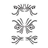 Lines hand drawn design element vector. Lines hand drawn design element ornament frame vector set illustration vector illustration