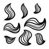 Lines hand drawn design element vector. Lines hand drawn design element ornament frame vector set illustration stock illustration