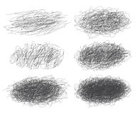 Lines of hand drawn textures, scribbles for your design. Set of ink lines of hand drawn textures, scribbles for your design. Vector illustration. Isolated on Stock Images