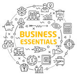 Lines icons illustration circle business essentials Stock Image