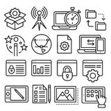 Lines icons pack collection. Vector set lines icons pack collection lineart Stock Photos