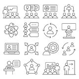 Lines icons pack collection. Vector set lines icons pack collection lineart Royalty Free Stock Image