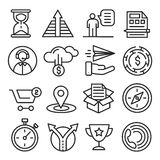 Lines icons pack collection Stock Photography