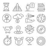 Lines icons pack collection Royalty Free Stock Image
