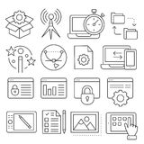 Lines icons pack collection. Vector set lines icons pack collection lineart Stock Photo