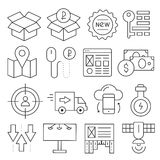 Lines icons pack collection Stock Images