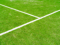 The lines intersect of tennis court. Tennis court on the vacation time Royalty Free Stock Photo