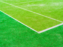 The lines intersect of tennis court. Tennis court on the vacation time Stock Photos