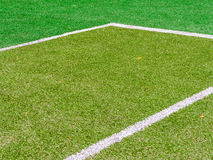 The lines intersect of tennis court. Tennis court on the vacation time Stock Photography