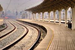 lines järnvägen Arkivbild