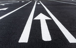 Lines and lane markings on the road Royalty Free Stock Image