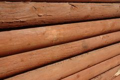 Lines and Logs. Logs piled for sale Stock Image