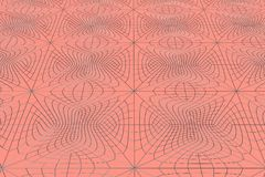 Lines of metal wires on red surface Stock Image