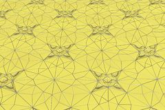 Lines of metal wires on yellow surface Royalty Free Stock Photos