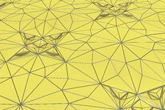 Lines of metal wires on yellow surface Royalty Free Stock Photography