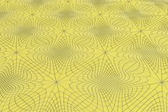 Lines of metal wires on yellow surface. Abstract geometrical pattern. 3D image. 3D rendering illustration Royalty Free Stock Photos