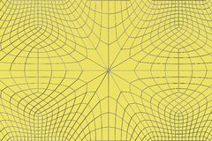 Lines of metal wires on yellow surface. Abstract geometrical pattern. 3D image. 3D rendering illustration Stock Image