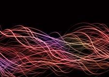 lines muddle neon wave Στοκ Φωτογραφίες