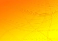 Lines on an orange degraded background Stock Image