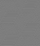 Lines and ovals gray embossed seamless Stock Photo