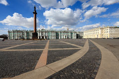 The lines on the Palace square Stock Images
