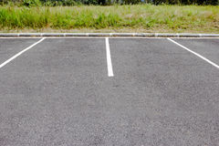 Lines parking on asphalt  background Royalty Free Stock Photography