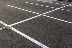 Lines for parking lots drawn Royalty Free Stock Image