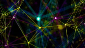 Lines and particles motion background stock footage