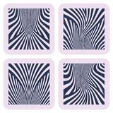 Lines patterns. Design elements set. Vector art Royalty Free Stock Photo