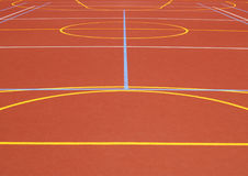 Lines on the pitch 3. Lines of multipurpose school playground Stock Photography