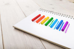 Lines of rainbow colors. Royalty Free Stock Images
