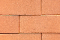 Lines of red clay bricks stack Royalty Free Stock Photography