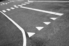 The lines on the road. The lines on the city road Royalty Free Stock Photos