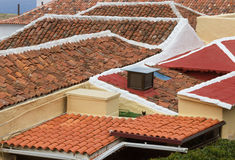 Lines of roofs. Royalty Free Stock Photos