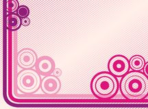 Lines and rounds background. Lines and rounds pink background or party flyer Stock Images
