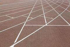 Lines on a running track Stock Photo