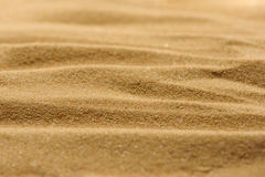 Lines in the sand of a beach. Close up texture Royalty Free Stock Image