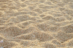 Lines in the sand. On a beach closeup Royalty Free Stock Photography
