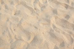 Lines in the sand of a beach. (background&#x29 stock images