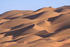 Lines of sand dunes Stock Photography